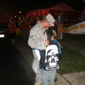 Tsgt Steve maniscalco and my kids